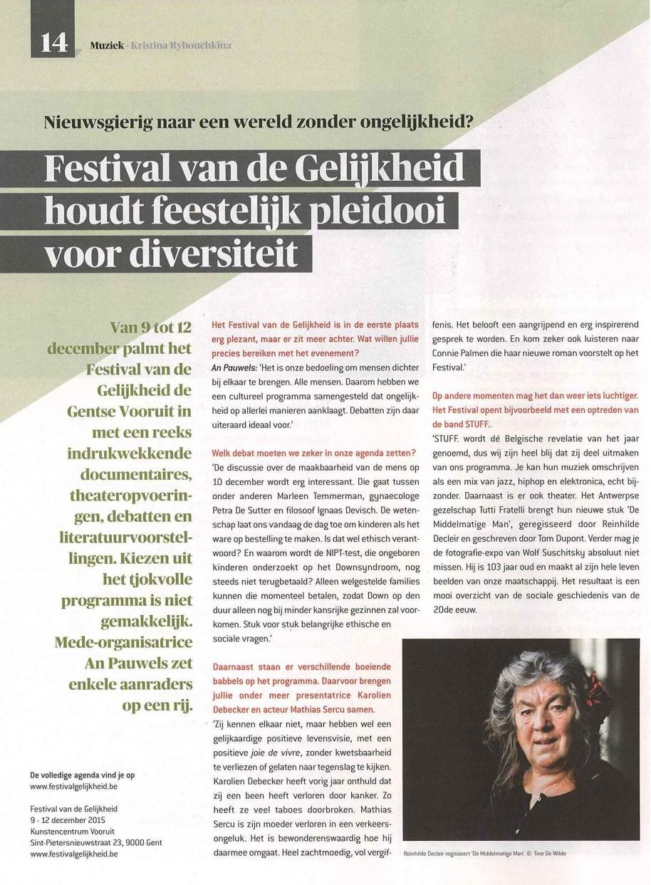 20150925_De Morgen Select_Festival van de Gelijkheid