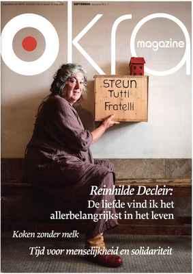20151001 Okra magazine Reinhilde Decleir. De liefde vind ik het allerbelangrijkst cover web